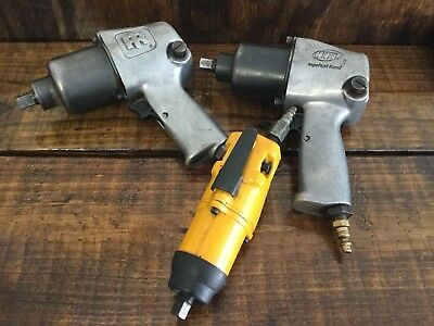 """Lot Of 3 Ingersoll Rand 2-1/2"""" Pneumatic Air Impact Wrenches 2705 And 1701 3/8"""""""