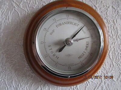 Altes Barometer,Thermometer in Echtholz. Fabr. SB. Made in England.Kirschholz.