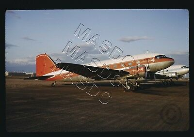 "35mm Kodachrome Aircraft Slide - Douglas DC-3 N404D ""Retired from Mohawk"" - 1964"