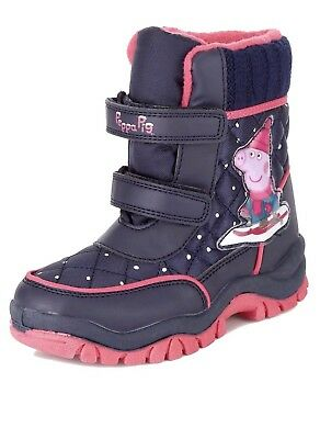 M&S Girls Peppa Pig Water Proof Thinsulate Uk 9 Child Snow Boots BNWT