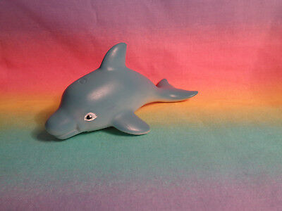 2012 Rubber Blue Dolphin Figure - as is