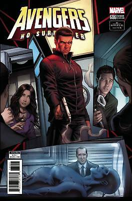 AVENGERS #686 Keown Agents of Shield 1:10 Variant Marvel Comics NM 2018