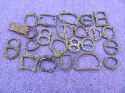 FANTASTIC Lot of (22) Bronze Buckles  Artefacts, Ancient to Post Medieval