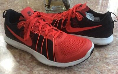 e4daae866424 Nike Flex Train Aver Men s University Red Black Shoes Size 12  831568-600  EUC
