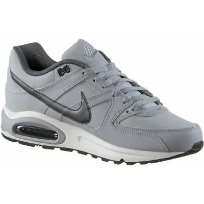 new arrival 6d4f8 89caf Chaussures Hommes Nike Air Max Command Leather 749760-012 Gris Noir Baskets  Neuf ...