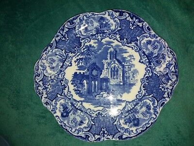 """George Jones & Sons """"Abbey 1790"""" Blue Porcelain Serving  tray blue and white"""
