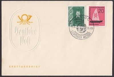 DDR-1956:   Brief  mit  MiNr: 536-537   -SST-