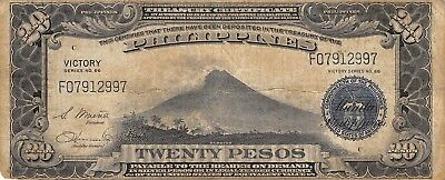 Philippines  20  Pesos  ND. 1944  P 98a  WWII Issue  Circulated Banknote LV10