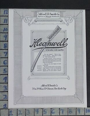 1914 Dental Medical Toothbrush Kleanwell Smith Health Beauty Vintage Ad Di98