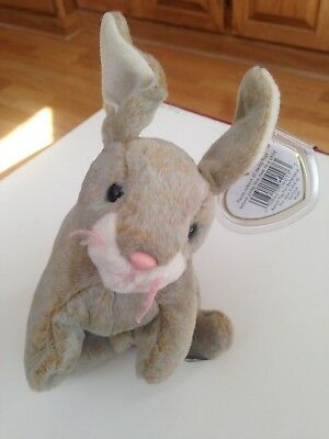 TY Nibbly the Bunny Rabbit TY Beanie Baby Retired 1998