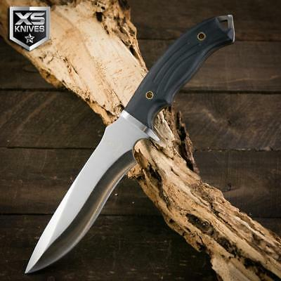 "Buckshot 12"" Tactical COMBAT Survival Hunting BLACK G10 HANDLE Full Tang Knife"