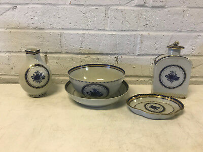 Antique 18th Century Chinese Export Porcelain Lot 5 Pieces for Persian Market