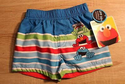 43593c54ae SESAME STREET ELMO Baby Boy Swim Trunks 3-6 Months Infant Swimwear ...