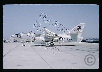 35mm Kodachrome Aircraft Slide - A3D-2 Skywarrior BuNo 138920 ZB8 VAH-4 Aug 1964