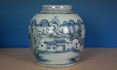 Fine Antique Chinese Blue And White Porcelain Jar Rare A8088