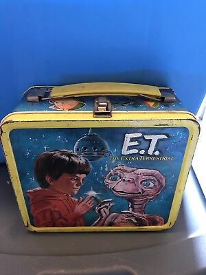 Vintage E.T. Lunchbox & Thermos ET Lunch Box Aladdin 1982 Extra Terrestrial Rare