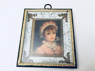 Two tin and wood picture frames antique painted wood Artist sought after