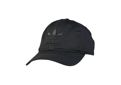 Adidas Originals Trefoil Cap Baseball Hat Adjustable Ripstop - CE7605 - Black