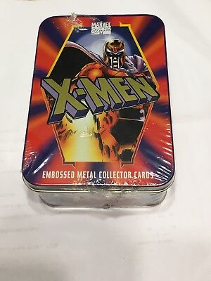 Factory Sealed Tin, Marvel Comics X-MEN, 5 Embossed Metal Collector Cards, 1996