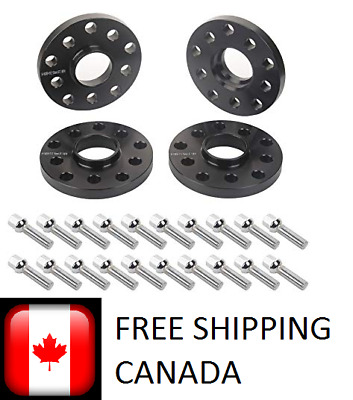 4Pc 20mm Wheel Spacers 5x100 5x112 | + 20 Bolts 14X1.5 |  Audi & Volkswagen 66.6