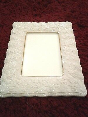 Lenox Porcelain Wedding Promises Collection Wedding Picture Frame for 5x7