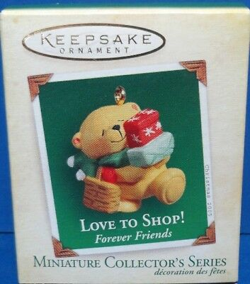 2005 Love to Shop Hallmark Retired Miniature Series Ornament