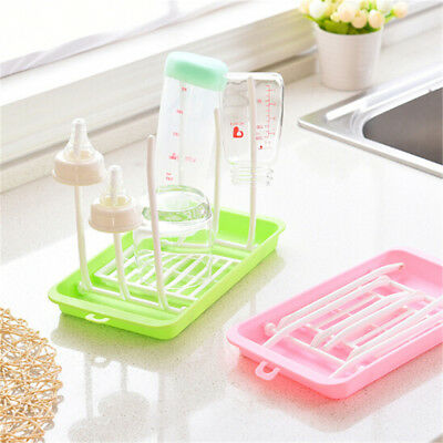 Baby Bottle Drying Rack Dryer Milk Nipple Toddler Dryer Teats Cups Feeding qV
