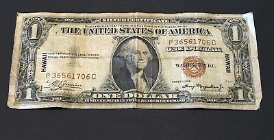 1935 A Hawaii $1 Silver Certificate Emergency Issue