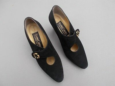 Roland Cartier black suede shoes size 4 and 1/2