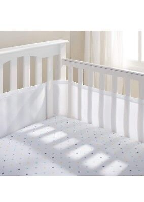 Breathable Baby Mesh Liner Cot Cot Bed Bumper Safe 2 or 4 Sided White