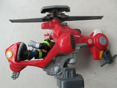 Rescue Heroes Fisher Price Helikopter mit Feuerwehrmann