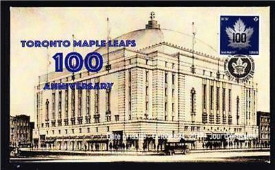 Canada limited edition FDC 2017 sc#3044 Toronto Maple Leafs 100, booklet single