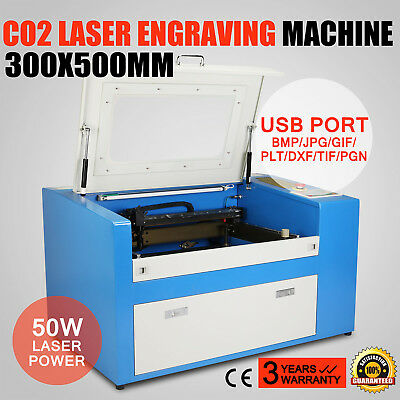 50W Co2 Laser Engraver Engraving Machine Carving Cutting Tool Artwork U-Flash