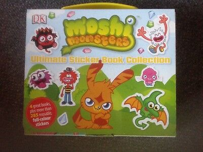 New Moshi Monsters Ultimate Sticker Book Collection 4 books 285 reusable sticker
