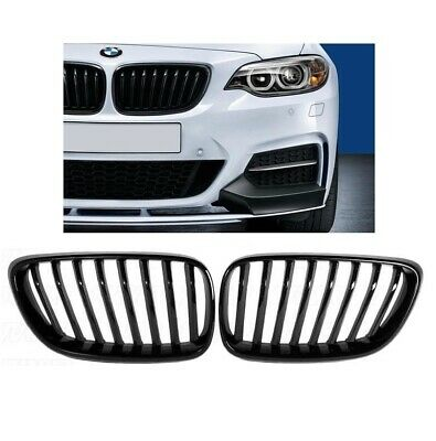 BMW 2 series F22 F23 2dr gloss black front kidney grilles grille twin spoke