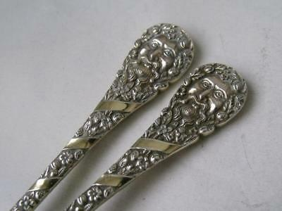 Quality Pair of Victorian Solid Silver Sorbet Spoons 1894/ L 11.9 cm/ 39 g