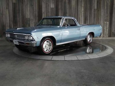 1966 El Camino #'s Match Factory AC Restored Beautiful Throughout 1966 CHEVROLET EL CAMINO Blue 8 cyl Automatic