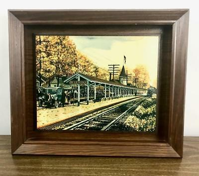 KEN EBERTS BlueRidge Railroad Train Station GA Georgia Vintage Lithograph Print