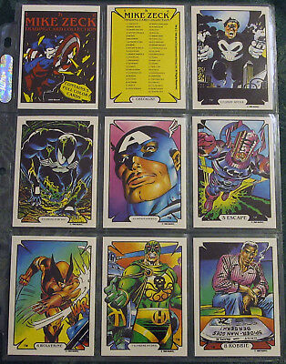 Complete (45) NM/M Set 1989 Comic Images Mike Zeck Trading Cards w/ Header Card