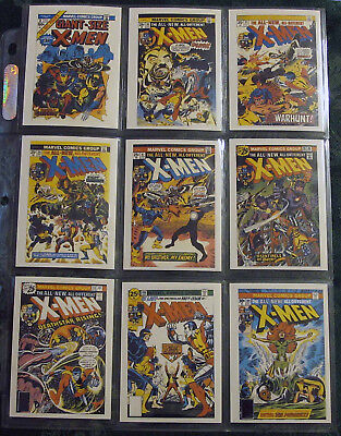 Complete (90/45) NM/M Comic Images Sets 1990 Uncanny X-Men Covers Series I & II