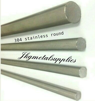 "304/A2  STAINLESS ROUND BAR - 2mm to 3""(76.2mm) diameter- multi lengths"