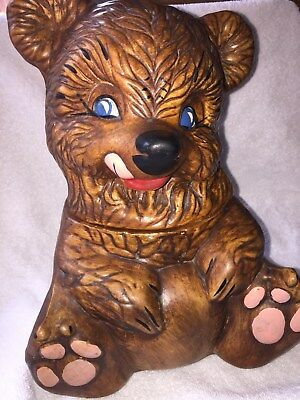 Vintage 1940's - 1950's Gilner Ceramic Brown Bear Cookie Jar 405 USA