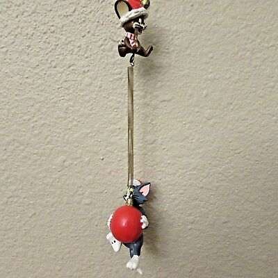 HTF WARNER BROS. TOM & JERRY Christmas ORNAMENT~CARTOON NETWORK 6-1/2""
