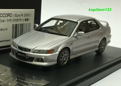 1:43 HI STORY HS096SL HONDA ACCORD CL1 EURO R SILVER model car