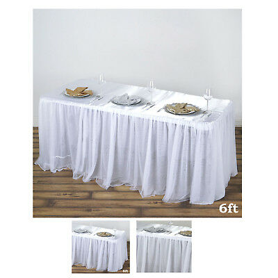 Satin With 3 Layer Tulle Wholesale Wedding Banquet Event Rectangular Table Top