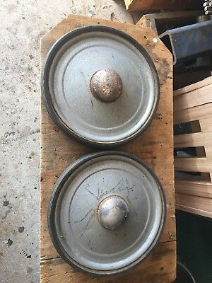 Two Vintage Pedal Car Wheels