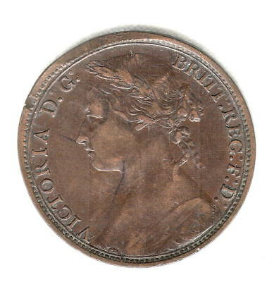1879 British Penny Nice Early Better Date Higher Grade