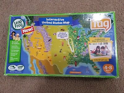 LEAP FROG TAG Interactive UNITED STATES MAP Jumbo 35\
