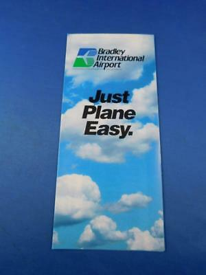 Bradley International Airport Advertising Brochure Just Plane Easy Connecticut