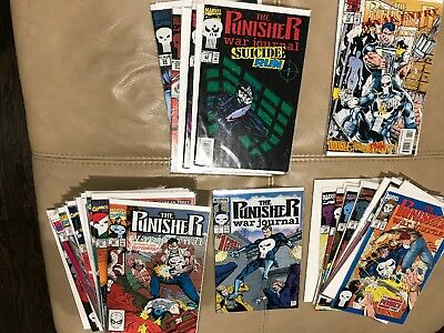 HUGE Punisher War Journal Lot 1st Series 1 24-47 49-60 63-70 72 78 - 46 books NM